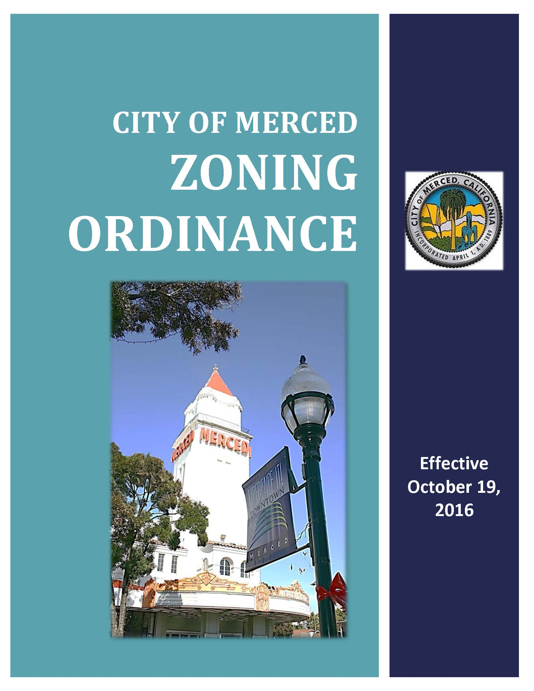 Merced Zoning Ordinance cover page
