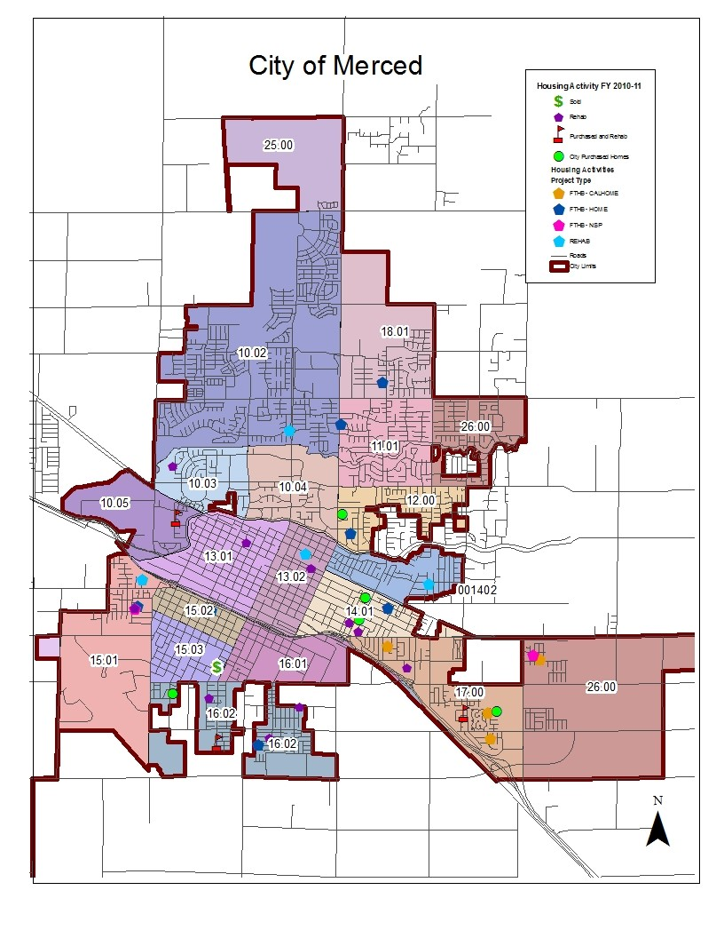 City of Merced Project Map (2011)