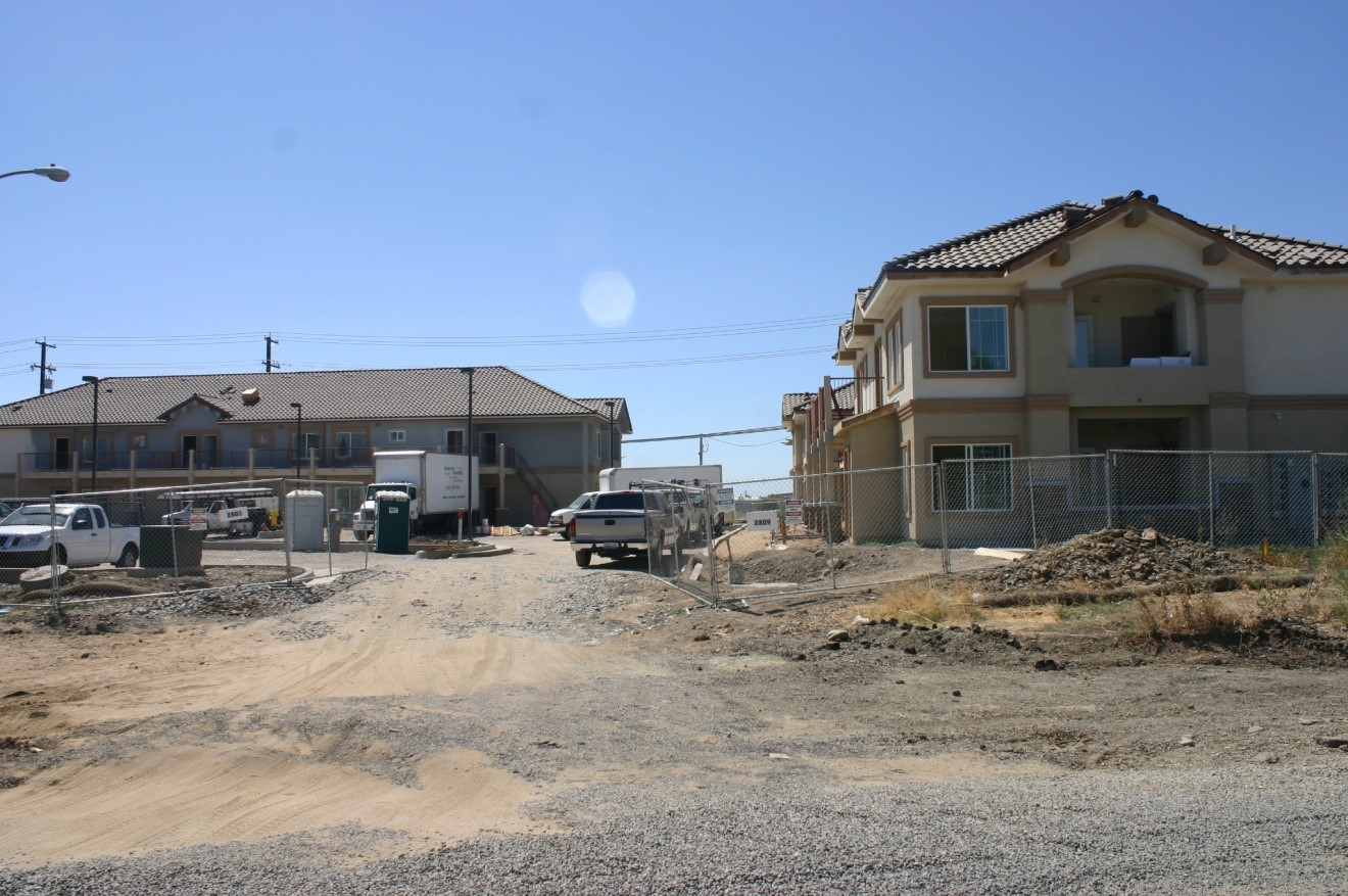 Site of apartment building construction