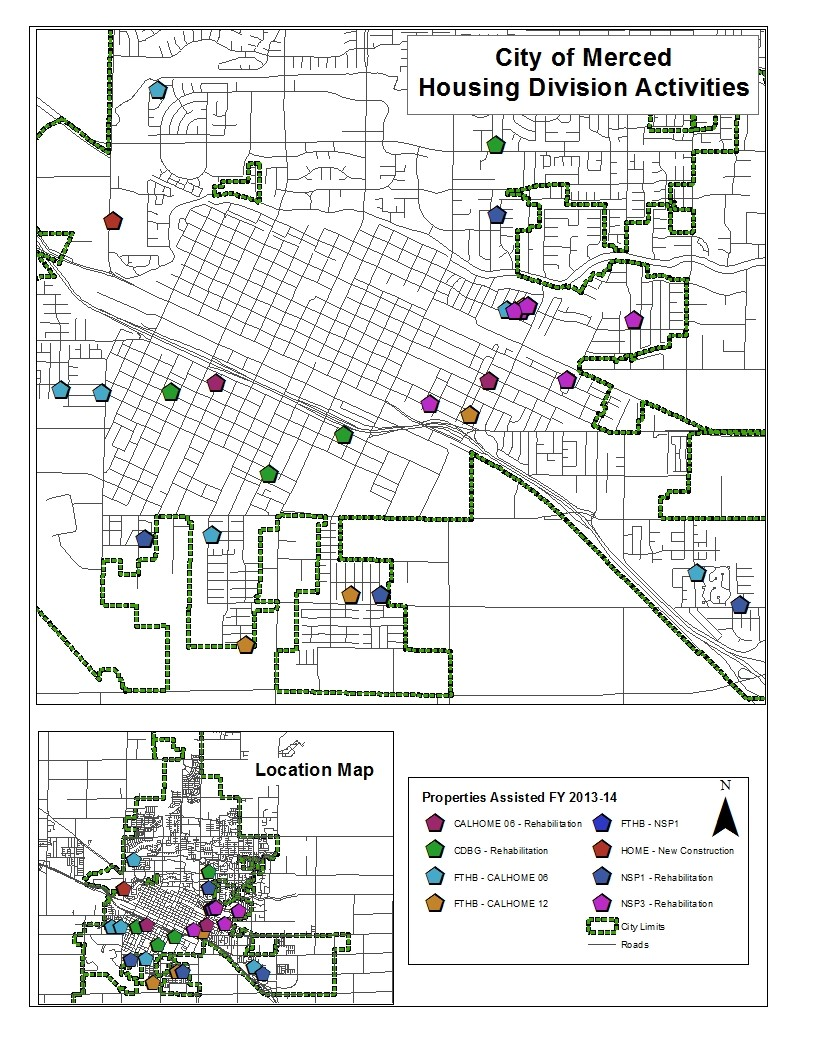 Housing Division Activities Map 2014