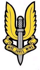 Logo with the motto 'Who dares wins'