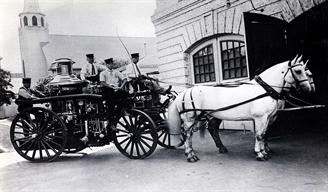 Ahrens Continental Fire Engine pulled by horses