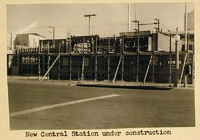 New Central Fire Station Under Construction 1951