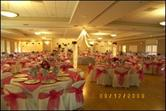 Function room decorated for a wedding