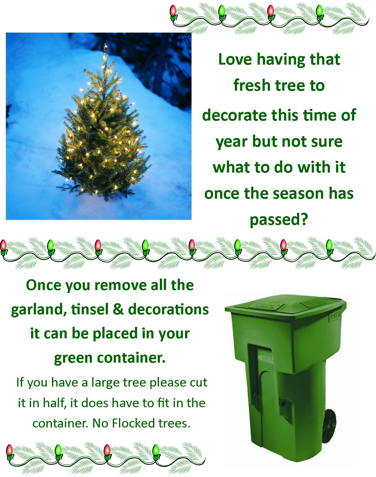 Christmas Tree Disposal brochure