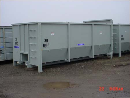 30 cu. yd. container