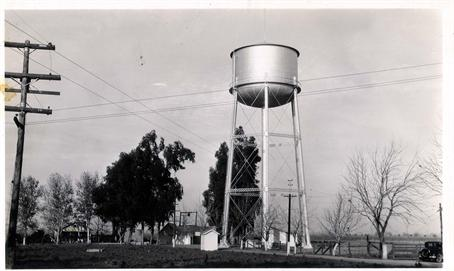 Vintage photo of water tower