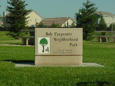 Bob Carpenter Park sign