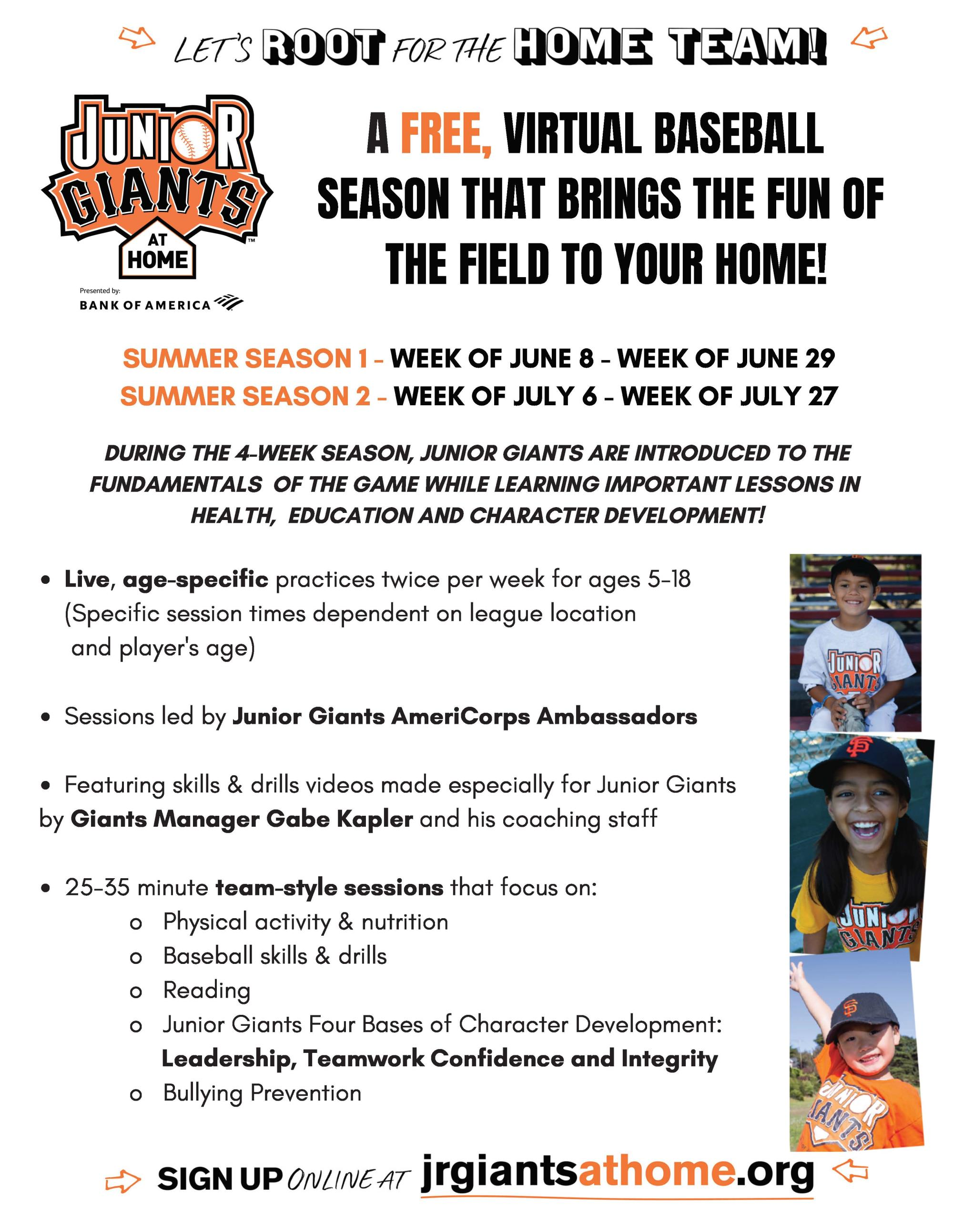 About Junior Giants at Home